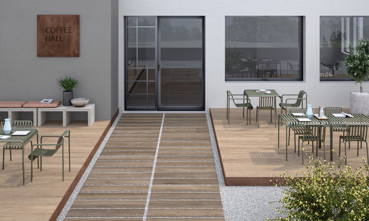 Lea Ceramiche Bio Lumber Outdoor Lodge Brown & Grove