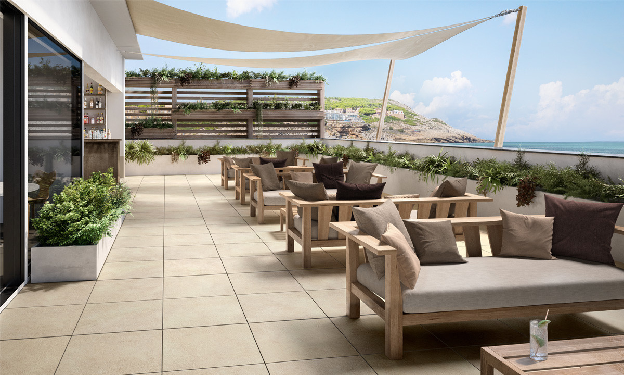 Villeroy & Boch Hudson Outdoor 20 Sand Terrastegels
